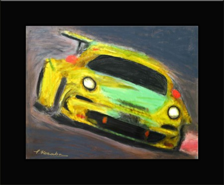 Abstract art Car Porsche (450 x 372)