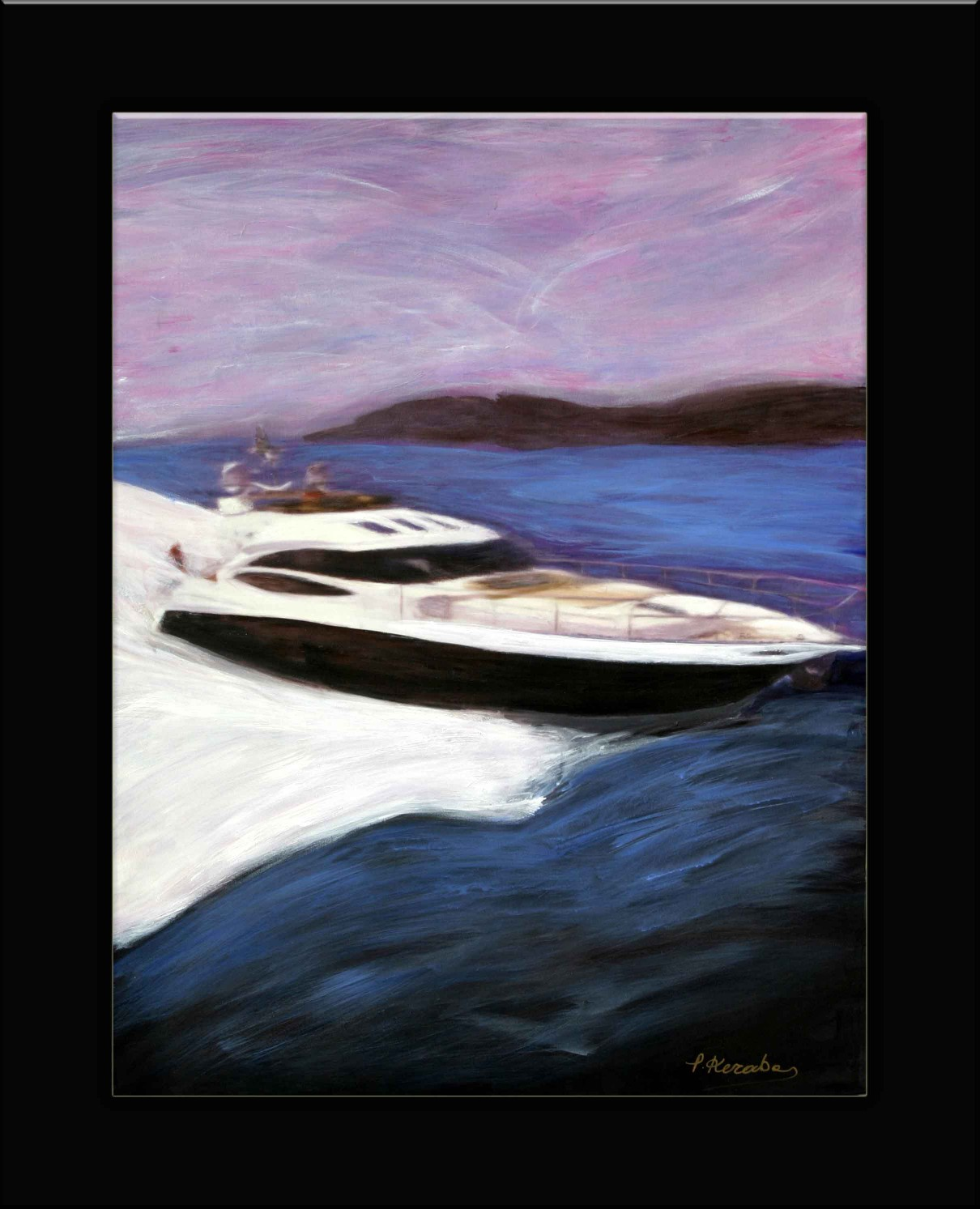 Abstract art yacht princess (1210 x 1493)
